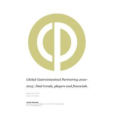 Global Gastrointestinal Partnering 2014-2021: Deal trends, players and financials